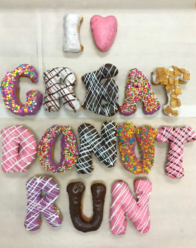 Donut signage from Glee