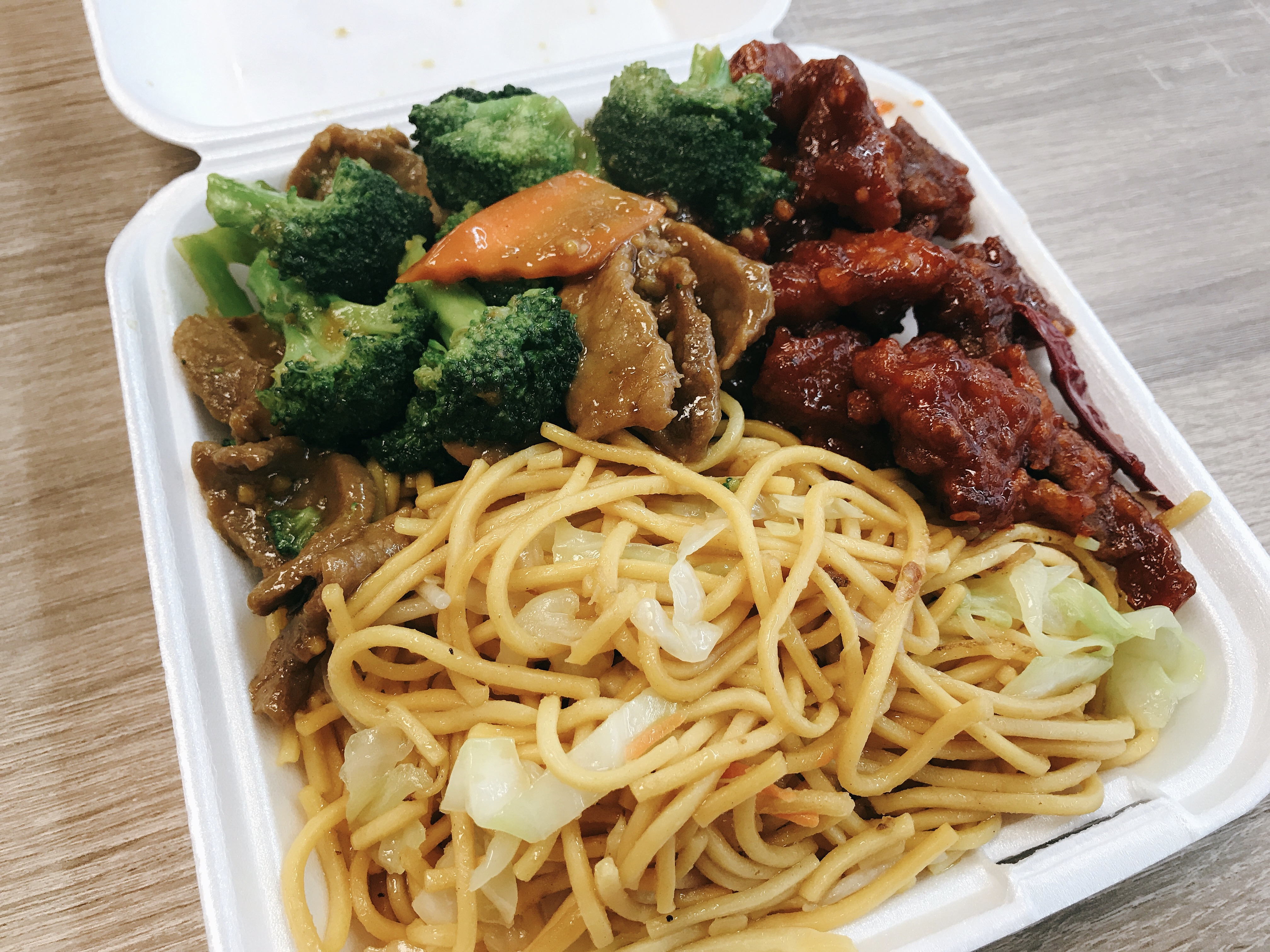 A Photo By Cynthia Rebolledo Of Combo Plate From An Unrelated Chinese Restaurant