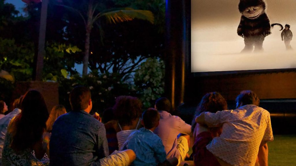 Summer movie screening at Hotel Irvine