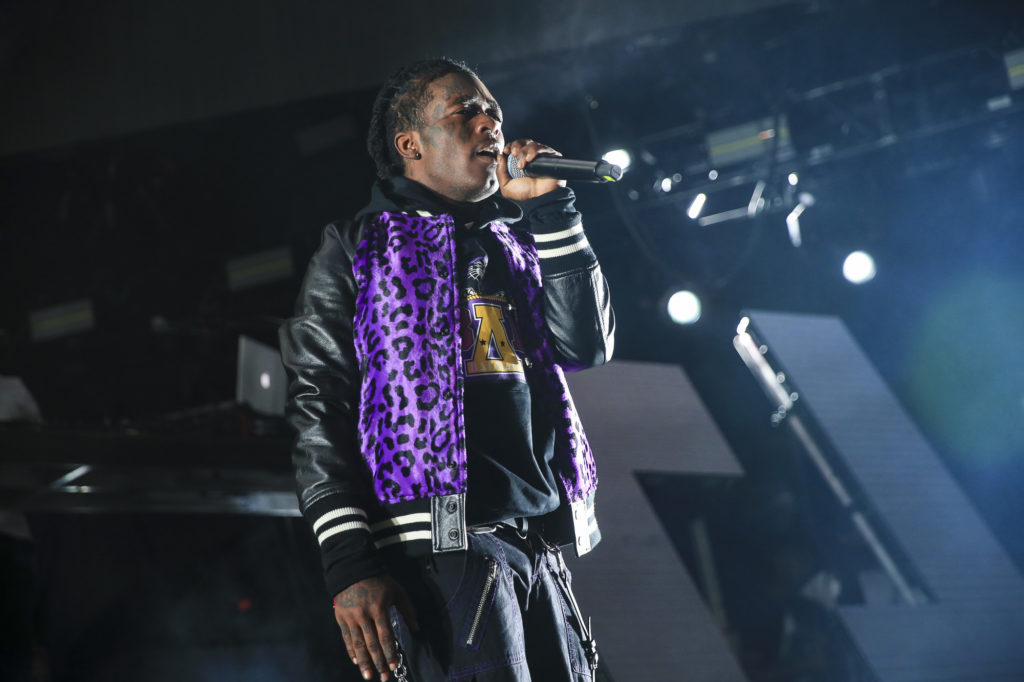 33dc402e02ab Lil Uzi Vert performs to a capacity crowd during G-Eazy s Endless Summer  Tour at Five Points Amphitheater in Irvine