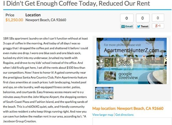 Pennysaver Ad of the Week is Over-Caffeinated   OC Weekly