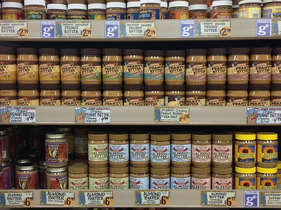 Image result for trader joe's creamy unsalted peanut butter