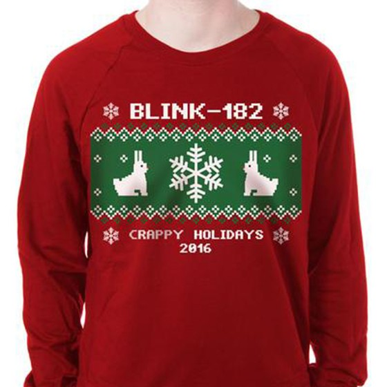 blink 182s crappy holidays 2016 sweatshirt is already sold out hope you were able to snag one - Descendents Christmas Sweater