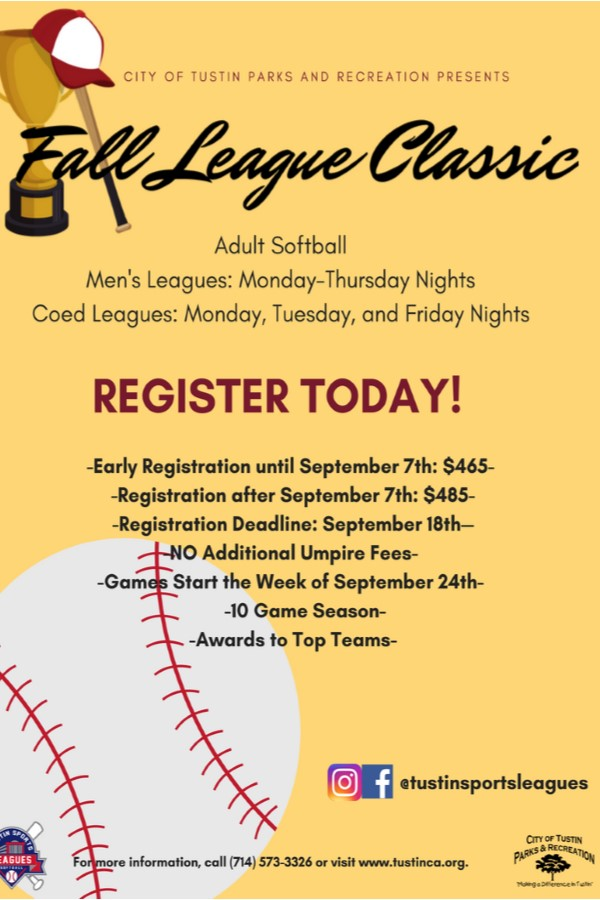 City of Tustin Adult Softball Leagues