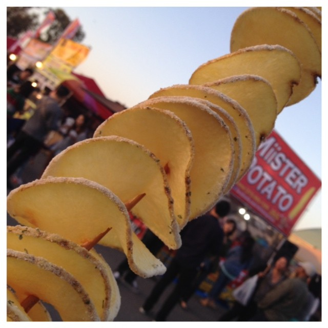 Twisted potato on a stick by Miister Potato.