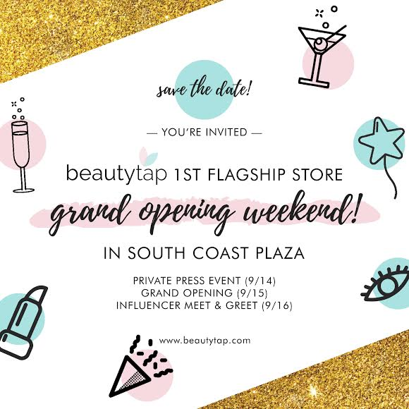 Bringing Seoul to SoCal: Beautytap Grand Opening at South Coast Plaza, Sat. 9/15, 9:30AM