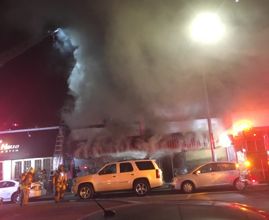 Early Morning Fire Burns Long Beach Gift Shop Hot Stuff