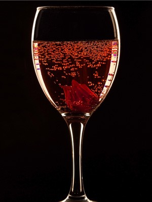 Champagne With Wild Hibiscus Flowers Oc Weekly