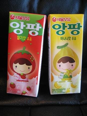 Seoul Milk Enfant Banana Strawberry Flavored Milk Oc Weekly
