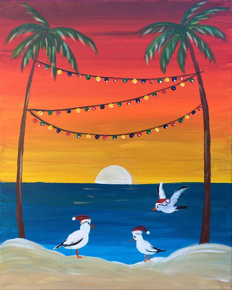 "Paint & Sip – Long Beach, CA – ""Christmas in Cali"""