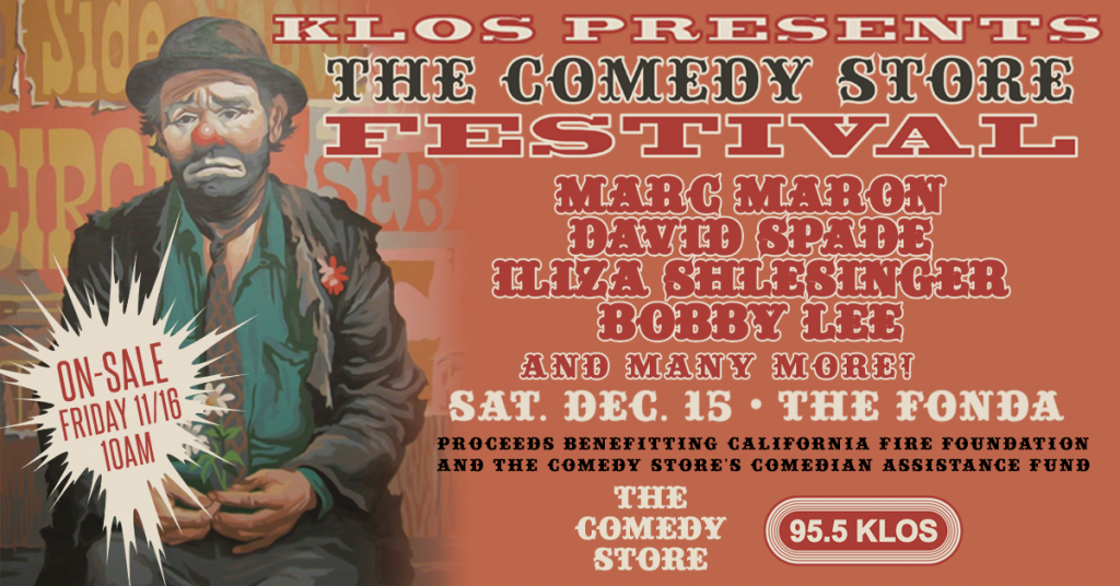 KLOS Announces Comedy Store Benefit For California Fire Victims