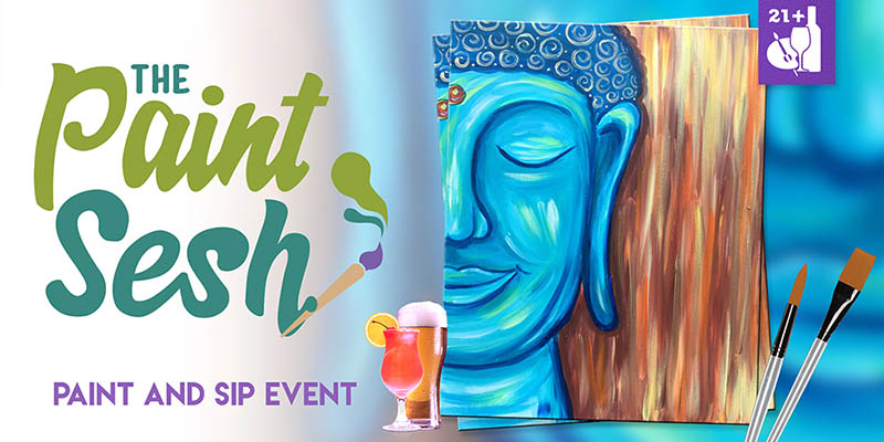 "Paint Night in Long Beach, CA – ""Happy Buddha"""