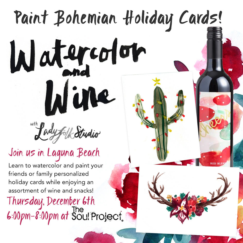 Bohemian Watercolor and Wine