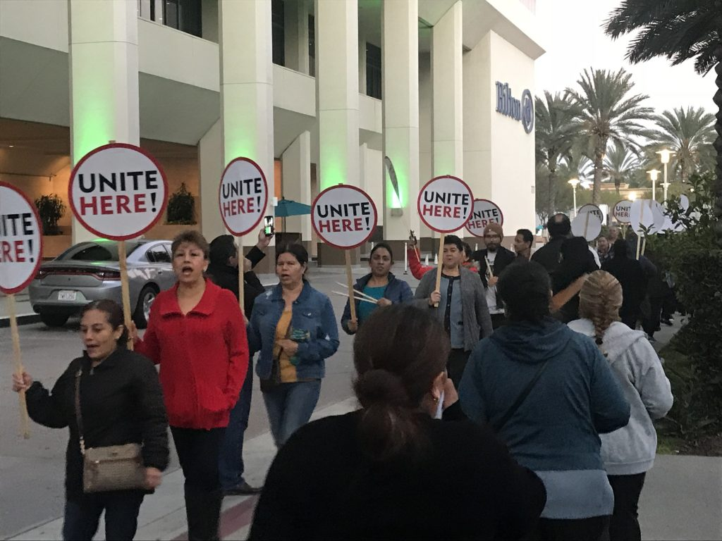 Anaheim Resort Hotel Workers Stage Picket Protests for $25 Hourly Wage