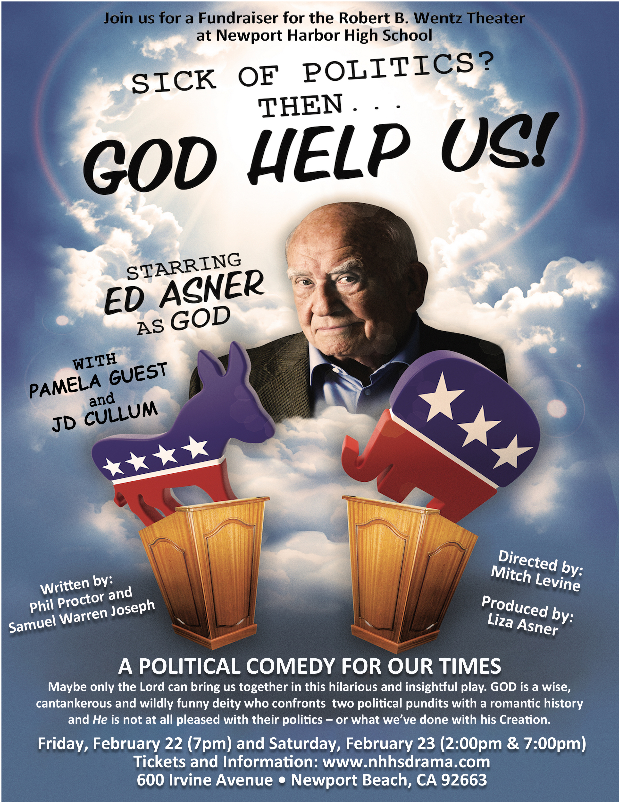 Newport Harbor High School presents Ed Anser in God Help Us