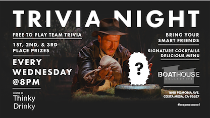 Free Trivia! Wednesdays at Boathouse Collective