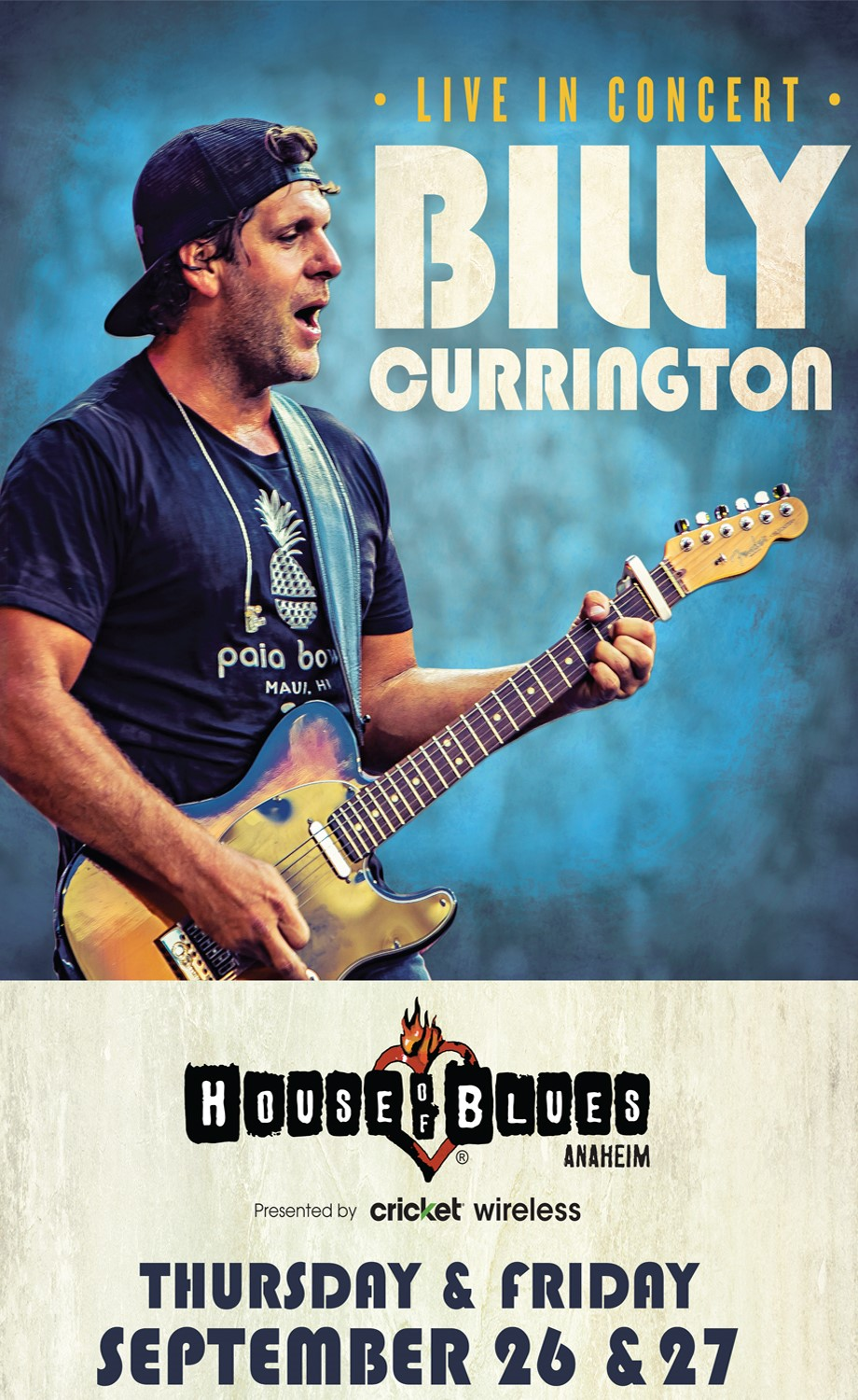 Billy Currington at Anaheim House of Blues