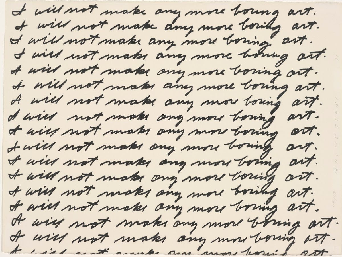 I Will Not Make Any More Boring Art: Prints by John Baldessari