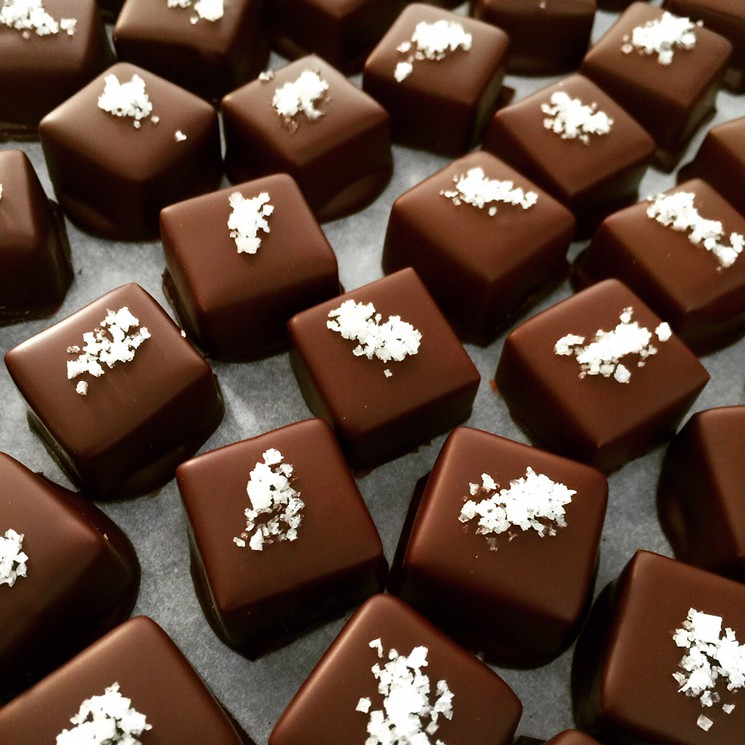 Dark Chocolate Covered Sea Salt Caramels