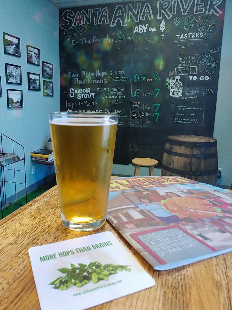 More Hops Than Brains From Santa Ana River Brewing, Our Beer of the Week!