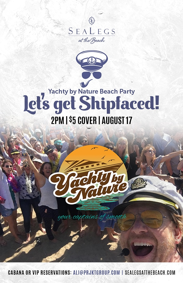 Yachty by Nature plays Yacht Rock on the Beach Sat. 8/17, 2PM-6PM