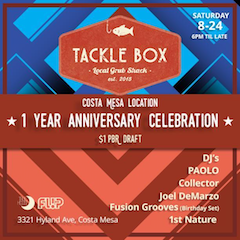 Celebrate One Year of Tackle Box in Costa Mesa!