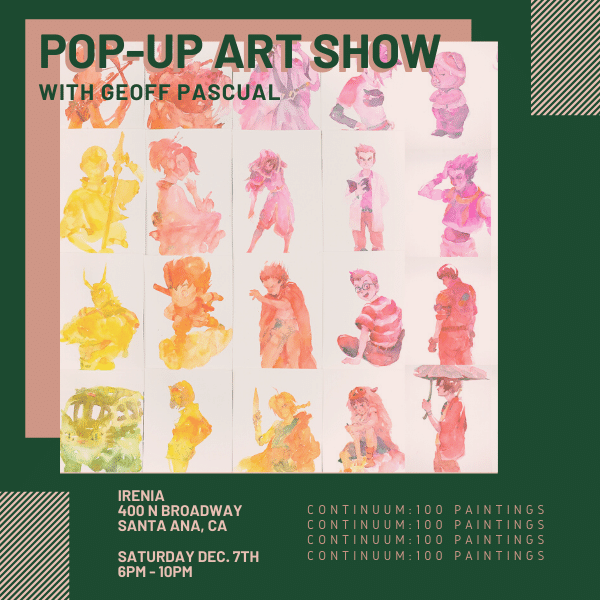 Pop-Up Art Show @ Irenia
